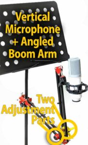 Copy Stand with Angled Boom Arm and Vertical Microphone