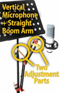 Copy Stand with Boom Arm and Vertical Microphone